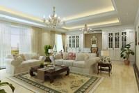 Condo Living Room 330 3D Model