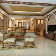 Condo Living Room 332 3D Model
