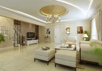 Condo Living Room 335 3D Model
