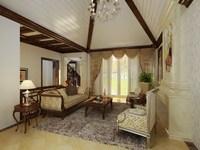 Condo Living Room 336 3D Model