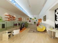 Condo Living Room 338 3D Model