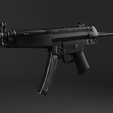 MP5A5 SubMachine Gun 3D Model