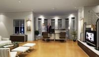 Condo Living Room 346 3D Model