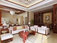 Condo Living Room 347 3D Model