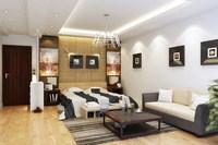 Condo Living Room 350 3D Model