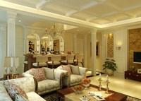 Condo Living Room 351 3D Model
