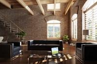 Condo Living Room 359 3D Model
