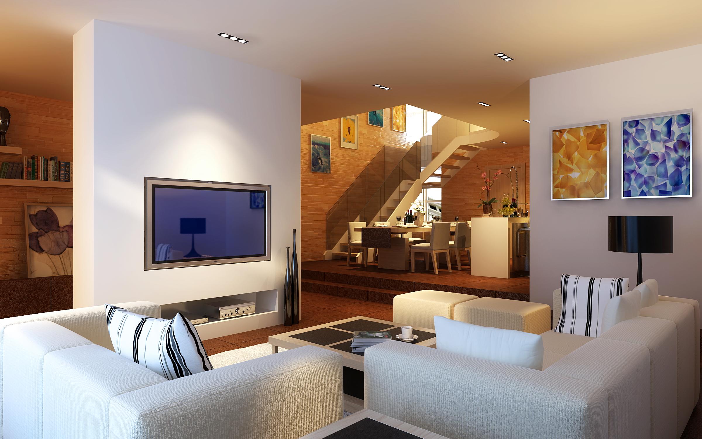 Condo living room 360 3d model for Room design 360