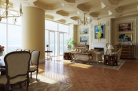 Condo Living Room 363 3D Model