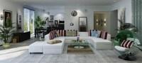 Condo Living Room 372 3D Model