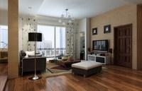Condo Living Room 373 3D Model