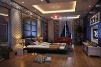Condo Living Room 377 3D Model