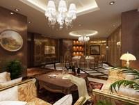 Condo Living Room 380 3D Model
