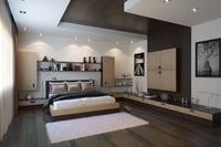 Condo Living Room 388 3D Model