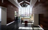 Condo Living Room 393 3D Model