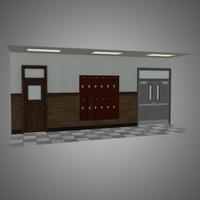 Modular Hallway Set 3D Model