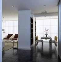 Condo Living Room 401 3D Model