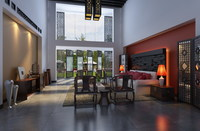 Condo Living Room 405 3D Model