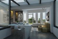 Condo Living Room 407 3D Model