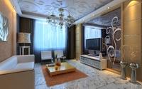 Condo Living Room 414 3D Model
