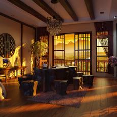 Condo Living Room 415 3D Model