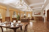 Condo Living Room 417 3D Model