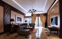 Condo Living Room 418 3D Model