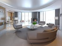 Free Condo Living Room 424 3D Model