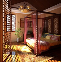 Condo Living Room 427 3D Model