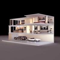 Condo Living Room 430 3D Model