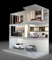 Condo Living Room 431 3D Model