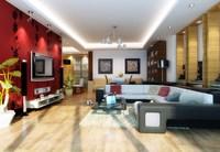 Condo Living Room 435 3D Model