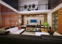 Condo Living Room 437 3D Model
