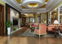Condo Living Room 438 3D Model