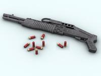 SPAS 12 Shotgun 3D Model