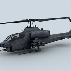Bell AH-1 Cobra Helicopter 3D Model