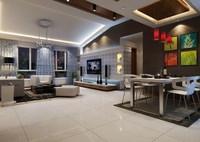 Condo Living Room 444 3D Model