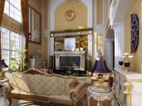 Condo Living Room 445 3D Model