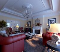 Condo Living Room 448 3D Model