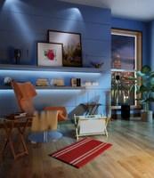 Condo Living Room 449 3D Model