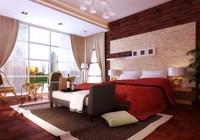 Condo Living Room 451 3D Model
