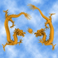 High Detail Chinese Dragon 3D Model