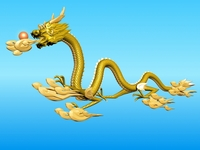 High detailed Chinese dragon 01 3D Model