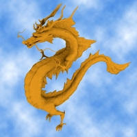 High Detail Chinese Dragon 02 3D Model