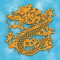 Chinese Dragon Symbol 2 3D Model
