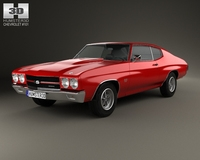 Chevrolet Chevelle SS 396 hardtop coupe 1970 3D Model