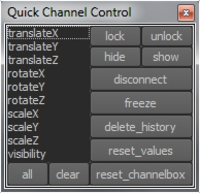 Quick Channel Control 1.0.0 for Maya (maya script)