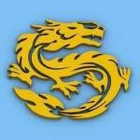 Chinese Dragon Symbol 3 3D Model