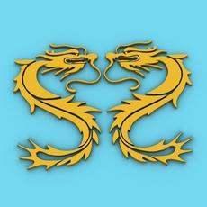 Chinese Dragon Symbol 5 3D Model