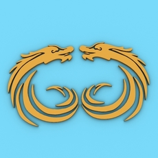 Chinese Dragon Symbol 6 3D Model
